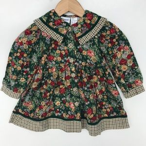 VTG Nanette 100% Cotton Floral Dress 3T